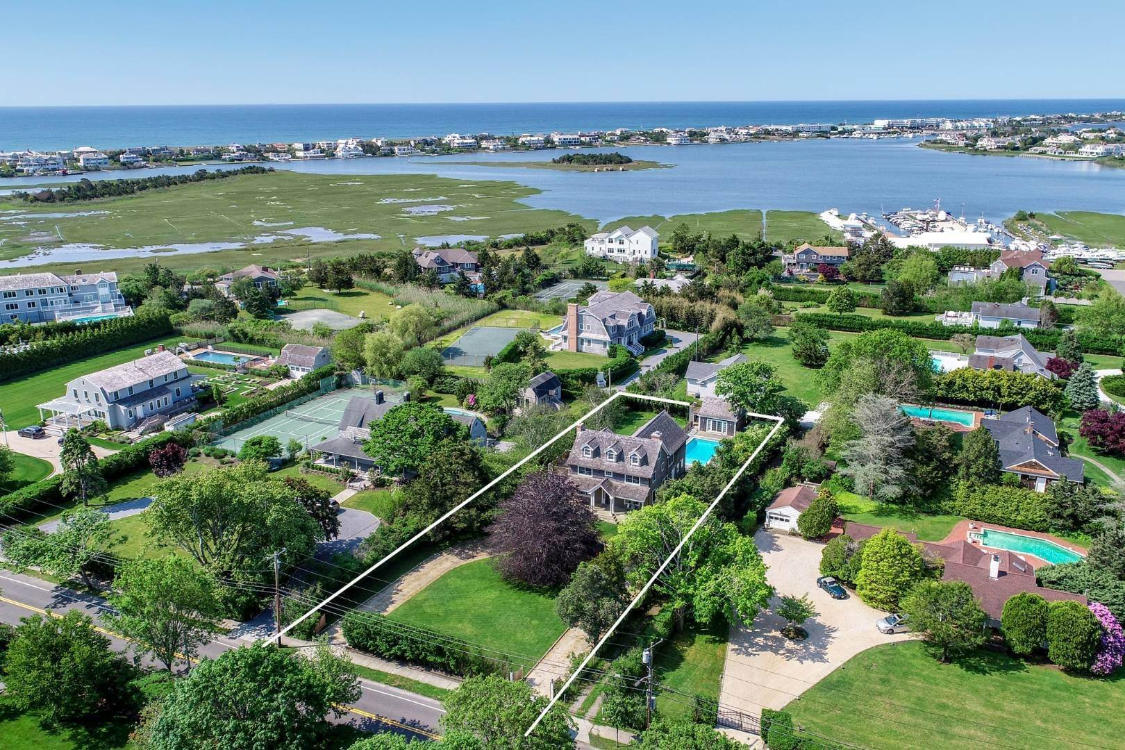 Single Family Home at Turnkey Renovated Village Traditional Only Half Mile To Ocean 87 Beach Lane, Westhampton Beach Village, NY 11978