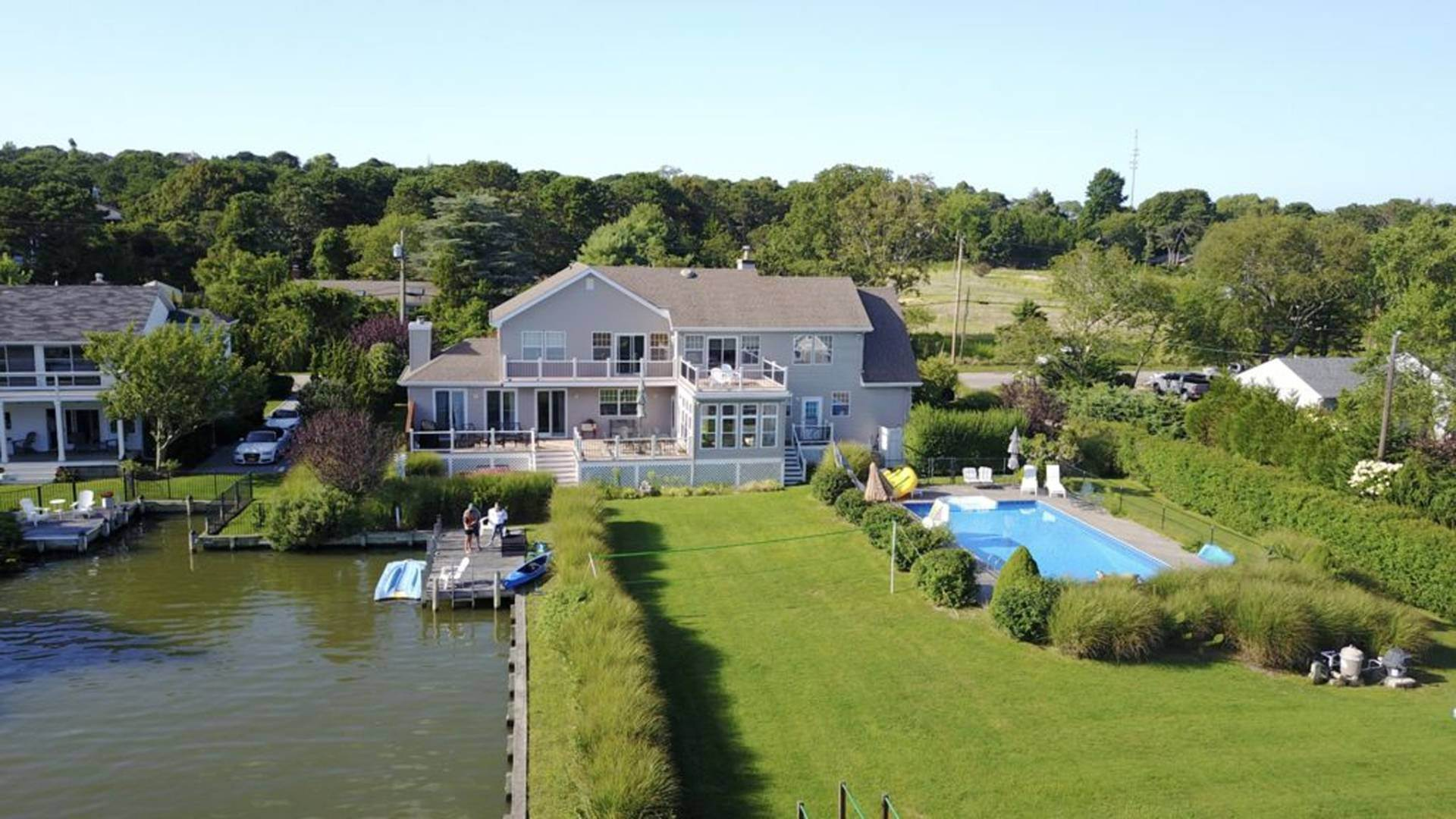 Single Family Home for Sale at Escape To The Bay For Your Dock, Hot Tub And Waterside Pool 56 Middle Pond Road, Southampton, NY 11968