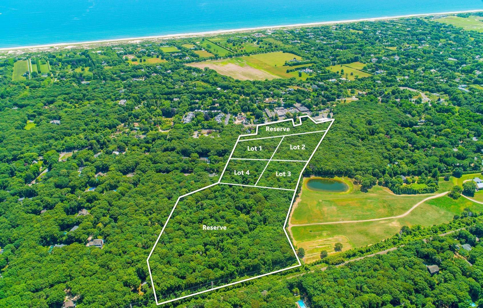 Land for Sale at Rare 4-Lot Development Opportunity 491 Pantigo Road, East Hampton, NY 11937