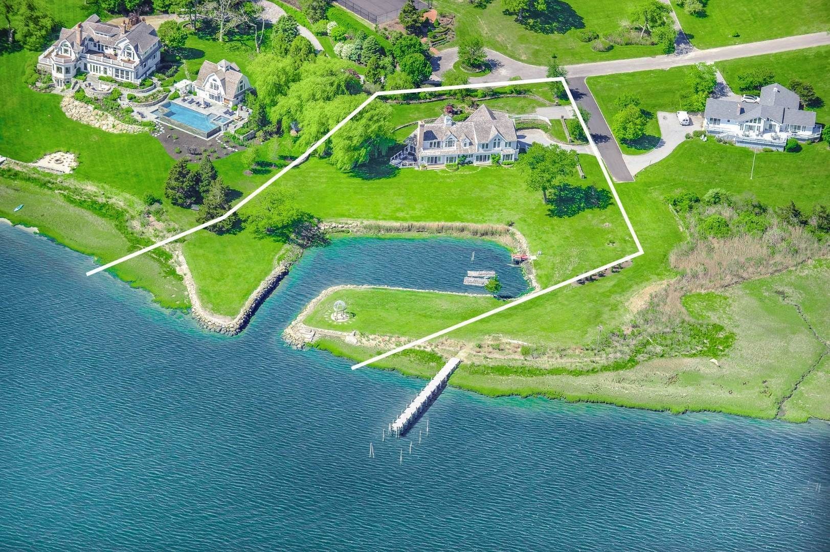 Single Family Home for Sale at Shelter Island Harborfront Classic 7 Lari Lane, NY 11964