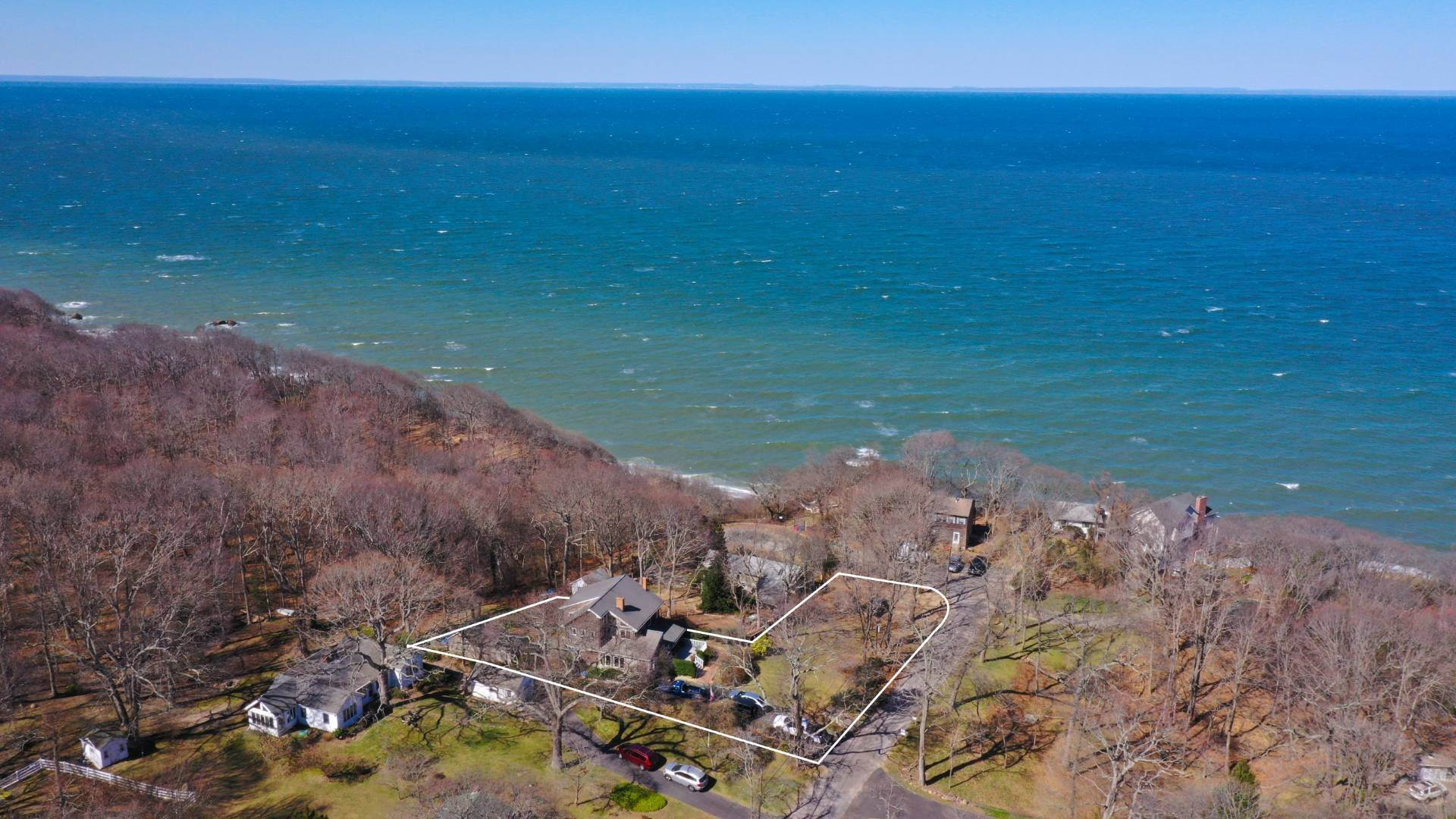 Single Family Home for Sale at Home, Guest House, Sound Views And Private Beach 235 Oak Drive, Baiting Hollow, NY 11933