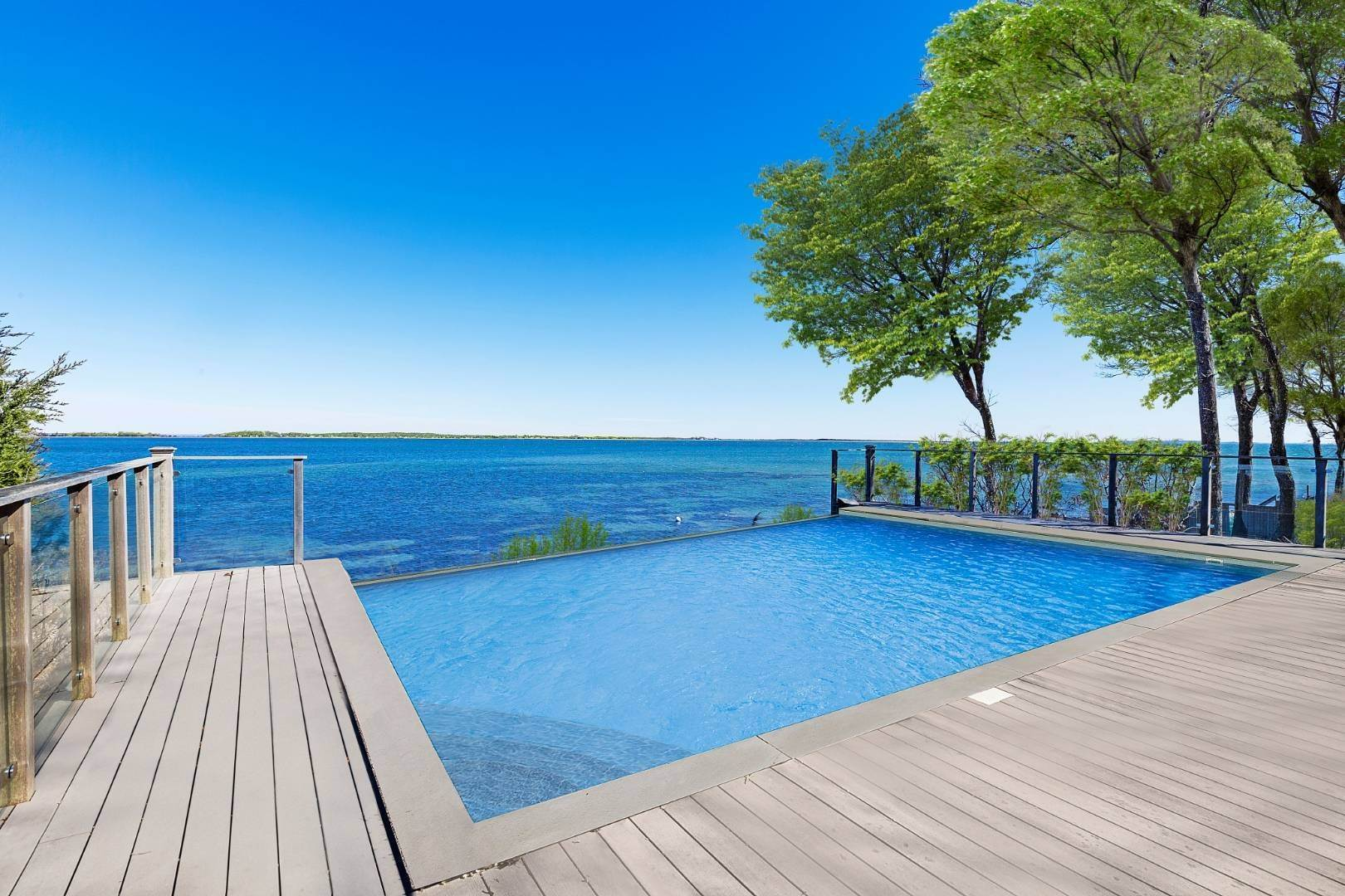 Single Family Home for Sale at Shelter Island Bayfront With Infinity Edge Pool And Sandy Beach 17 Point Lane, Shelter Island Heights, NY 11964
