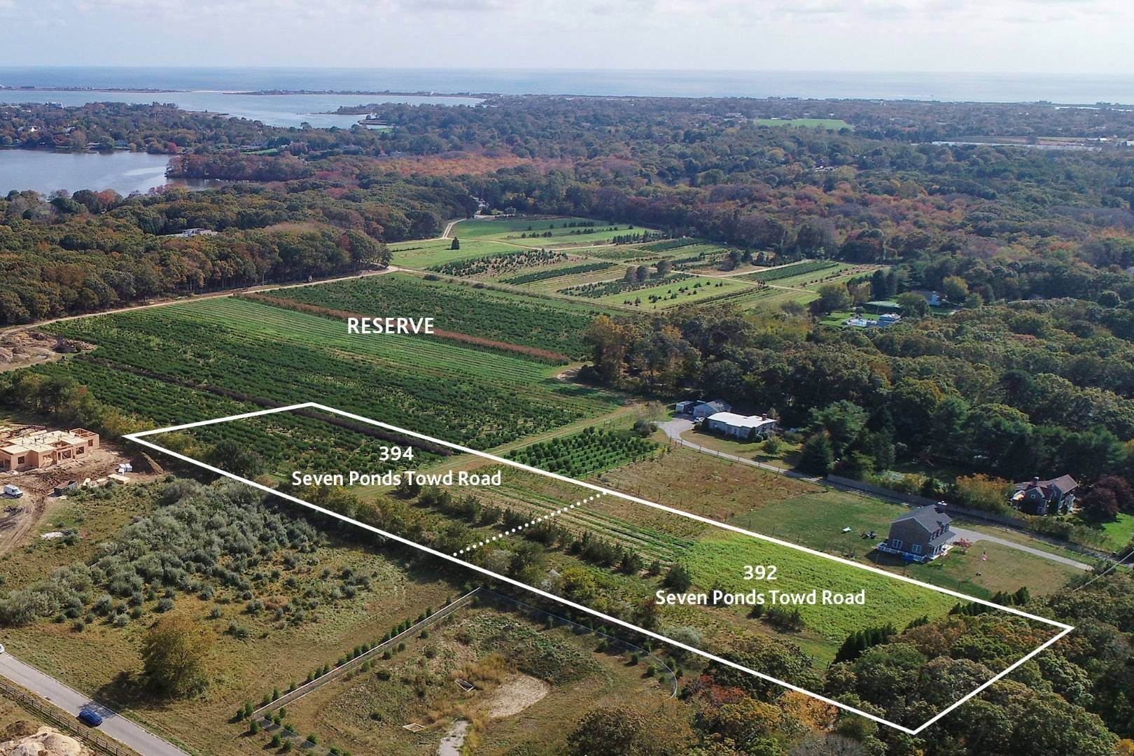 Land for Sale at Generous Vacant Parcel Overlooking Large Reserve 392 Seven Ponds Towd Road, Water Mill, NY 11976