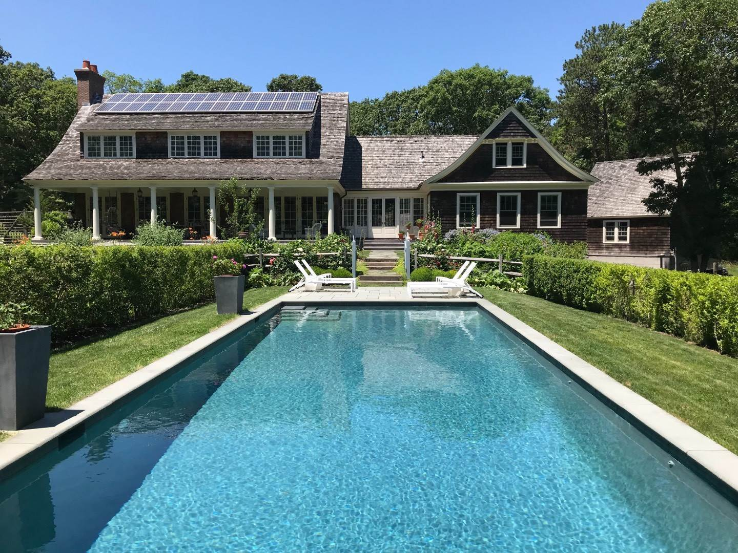 Single Family Home at Beautiful Private Four Bedroom Home With Pool And Gardens Amagansett, NY 11930