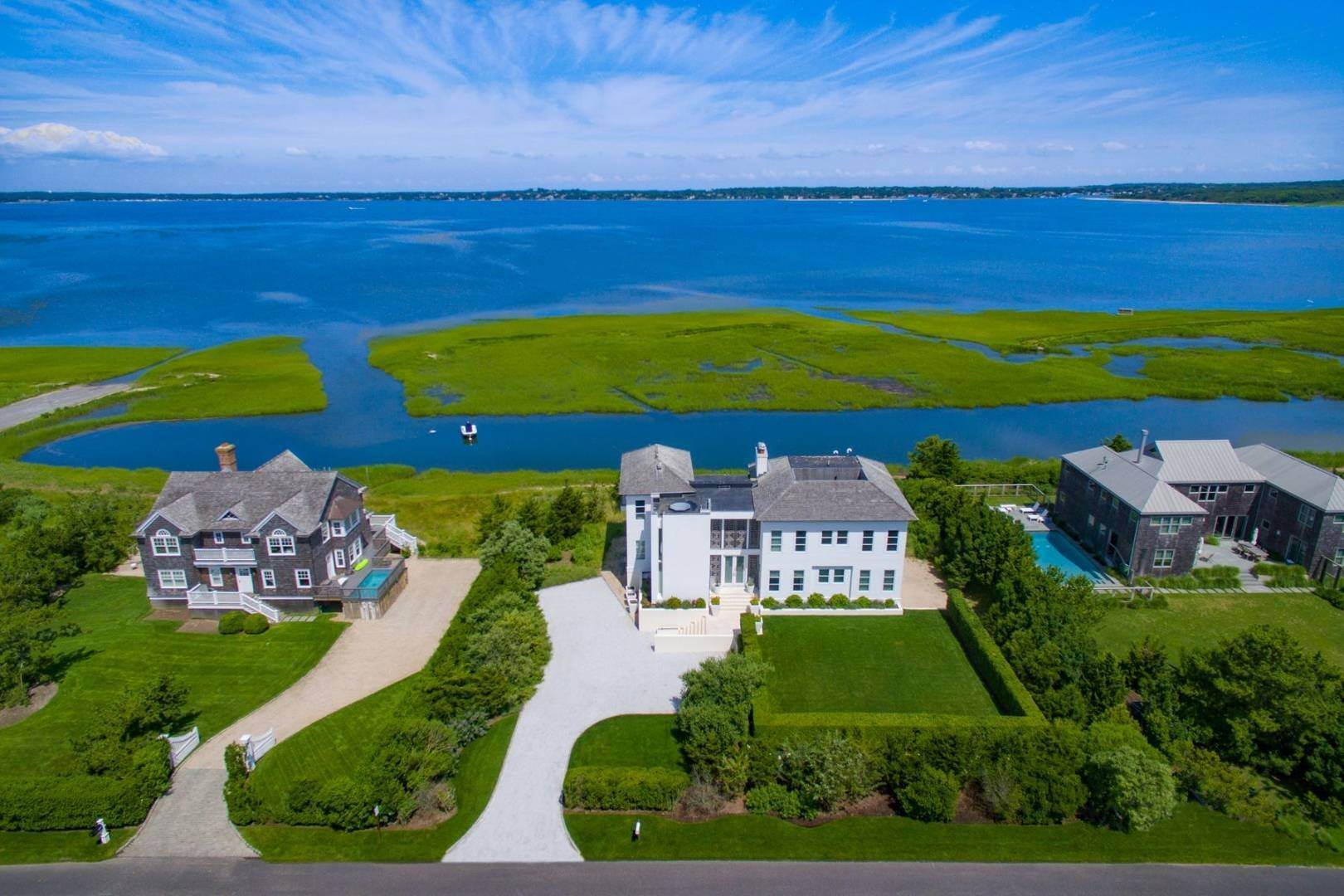 1. Single Family Home at Meadow Lane Modern Bay Front With Dock 1377 Meadow Lane, Southampton, NY 11968