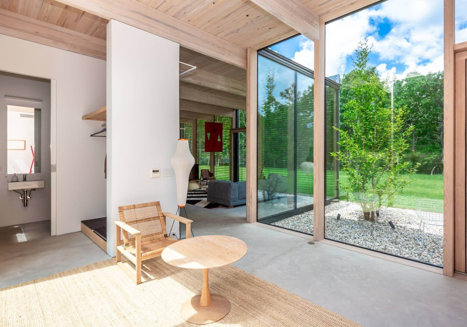 5. Single Family Home at Modern Glass House With Grace, Style And Warmth 184 Red Dirt Road, East Hampton, NY 11937