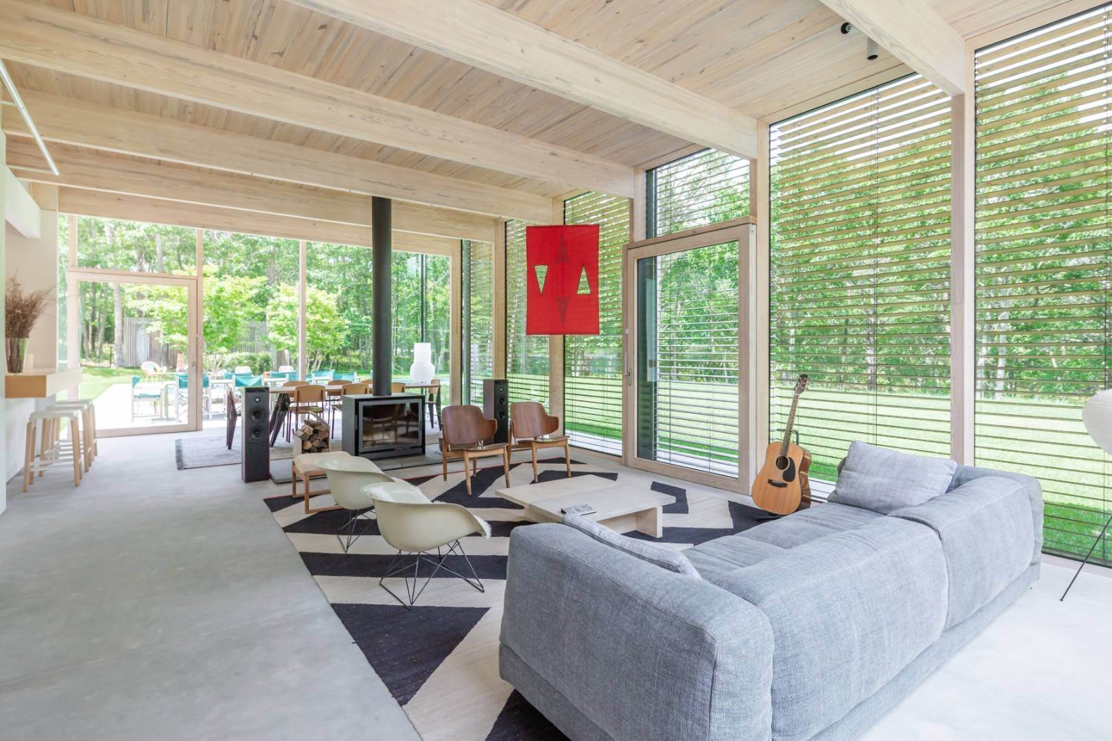 Single Family Home at Modern Glass House With Grace, Style And Warmth 184 Red Dirt Road, East Hampton, NY 11937