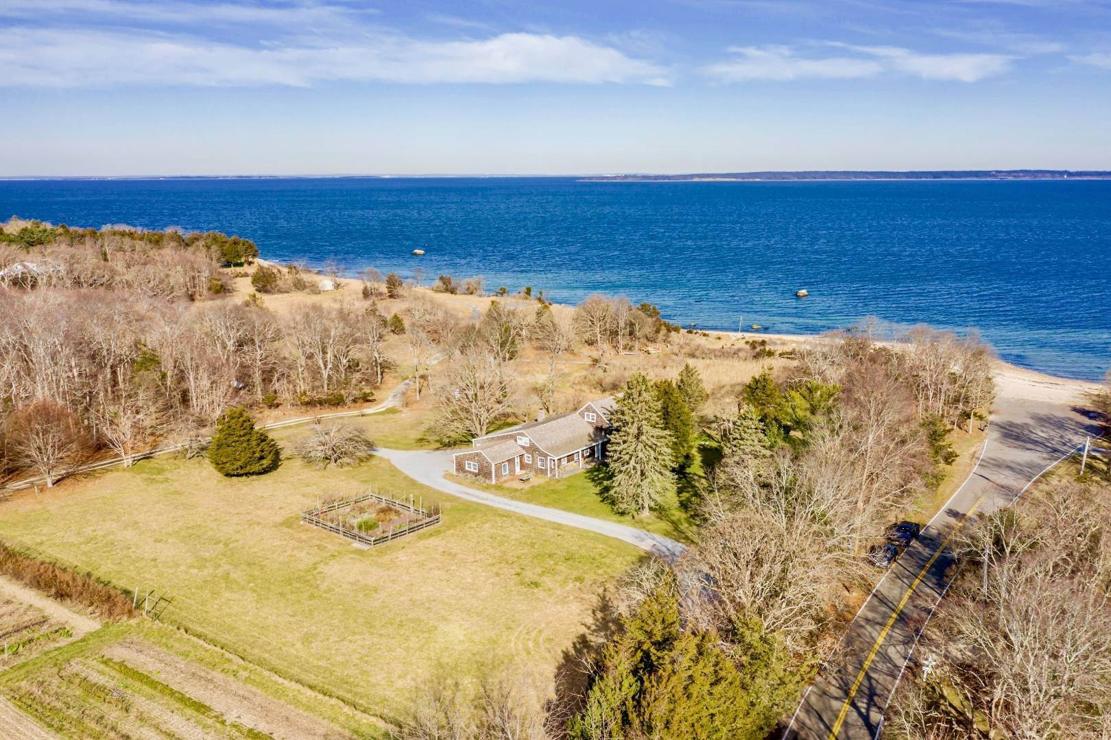 35. Single Family Home at Fireplace Lodge 6 Acres Private Waterfront Retreat 1251 Springs Fireplace Road, East Hampton, NY 11937