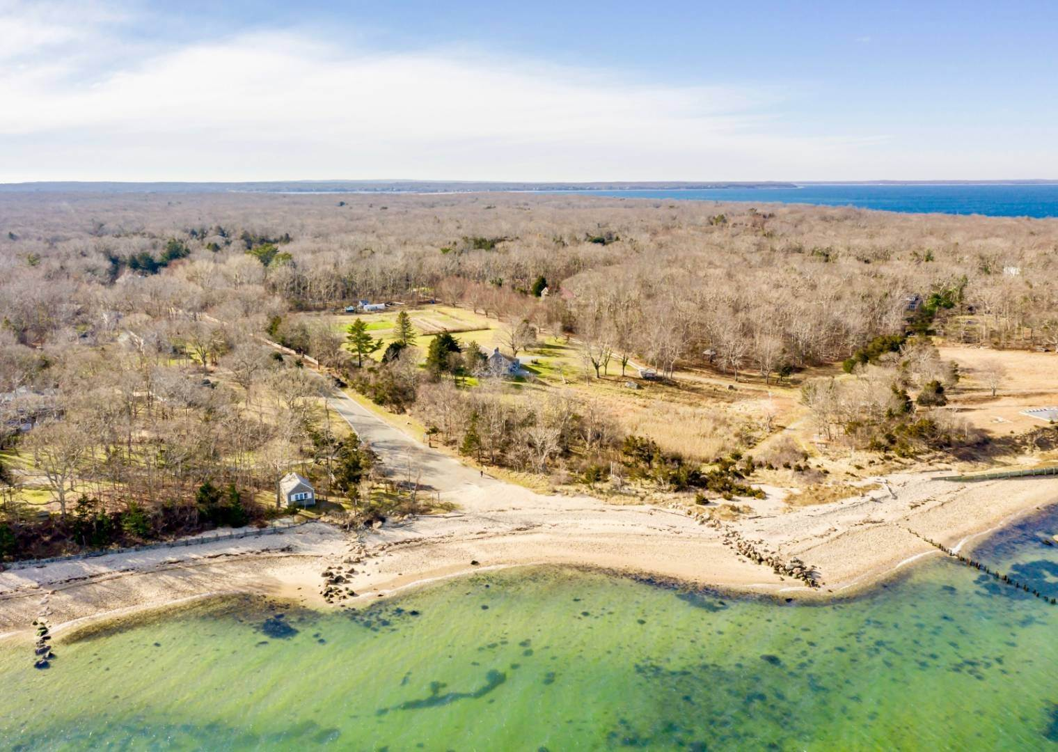 Single Family Home at Fireplace Lodge 6 Acres Private Waterfront Retreat 1251 Springs Fireplace Road, East Hampton, NY 11937