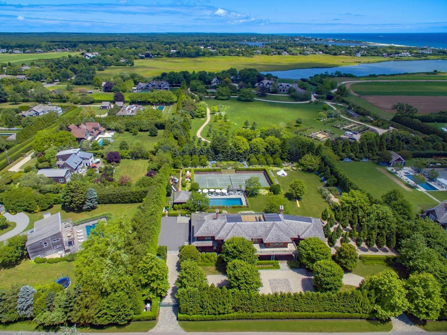 Single Family Home for Sale at Exceptional Hamptons Estate On Town Line Road 109 Town Line Road, Wainscott, NY 11975