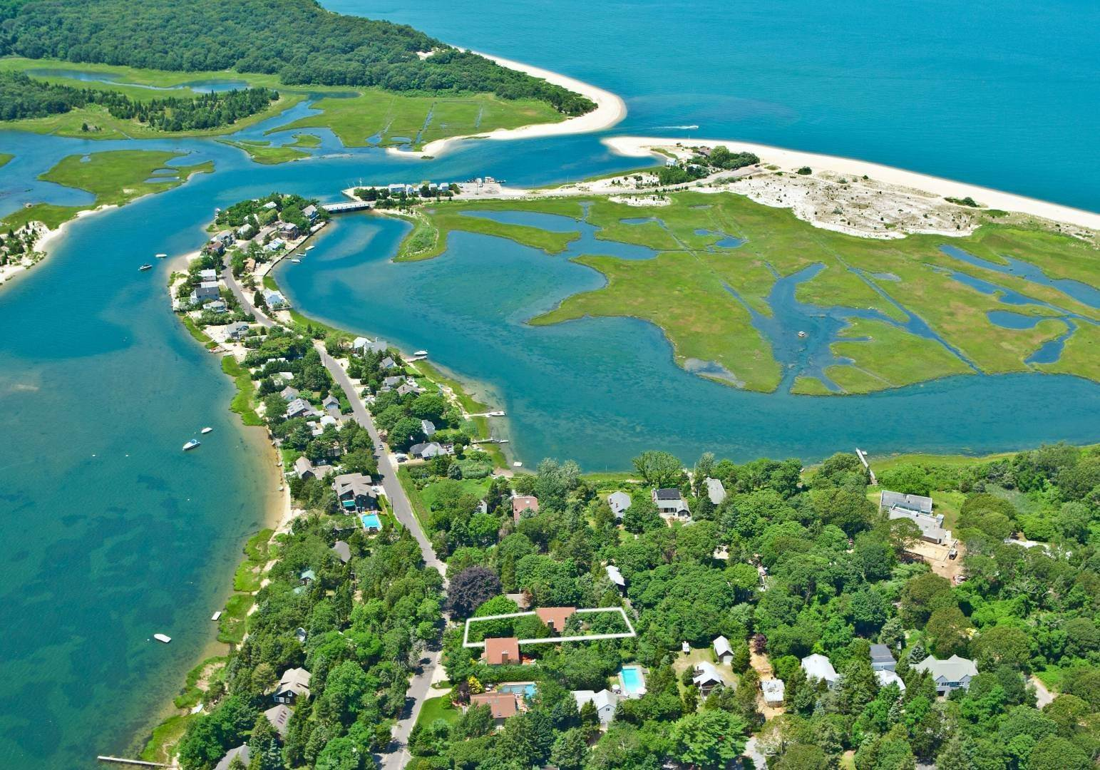 Single Family Home for Sale at Desirable Towd Point Beach Front Community With Room For Pool 145 Towd Point Road, Southampton, NY 11968