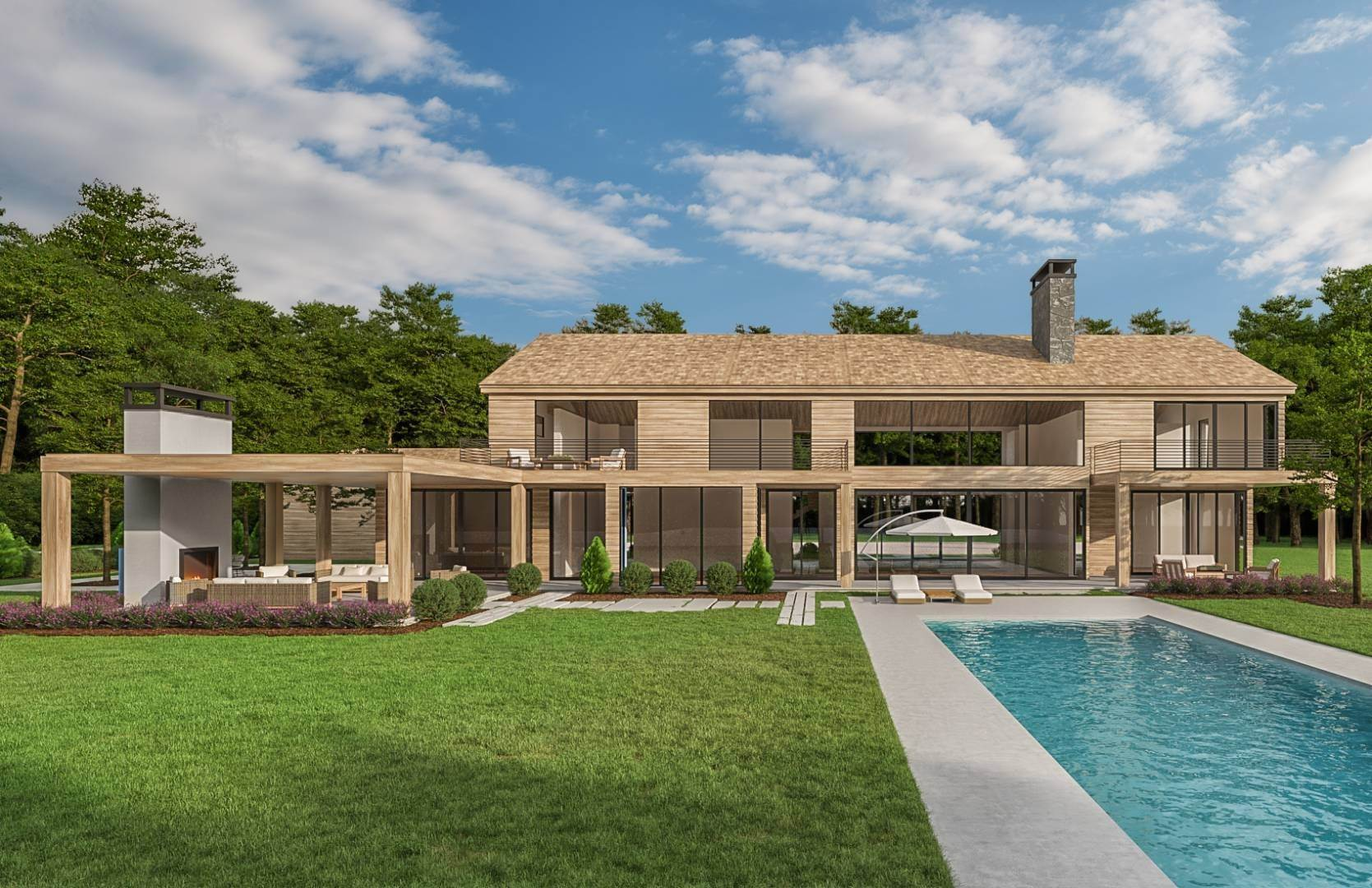 Single Family Home for Sale at Sprawling, Modern Construction With Tennis On 7 Acres! 1802 Noyac Path, Sag Harbor, NY 11963
