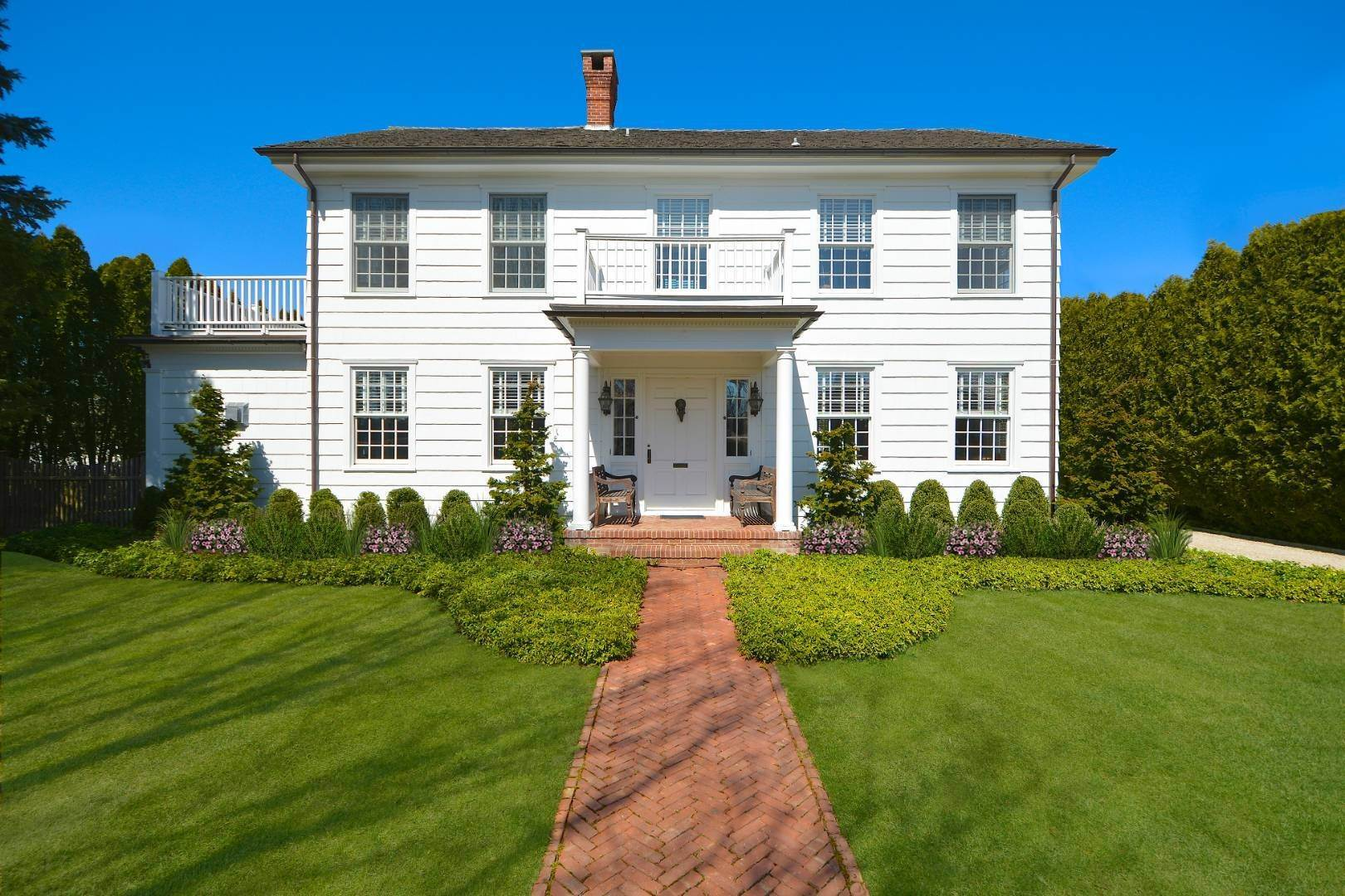 Single Family Home for Sale at Classic Herrick Road Home With Pool 75 Herrick Road, Southampton, NY 11968