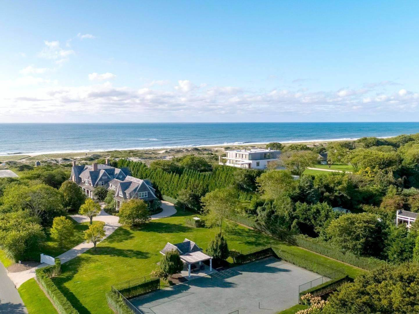 Single Family Home at Spectacular Oceanfront With Pool, Tennis And Beach Cabana 38 Two Mile Hollow Road, East Hampton, NY 11937