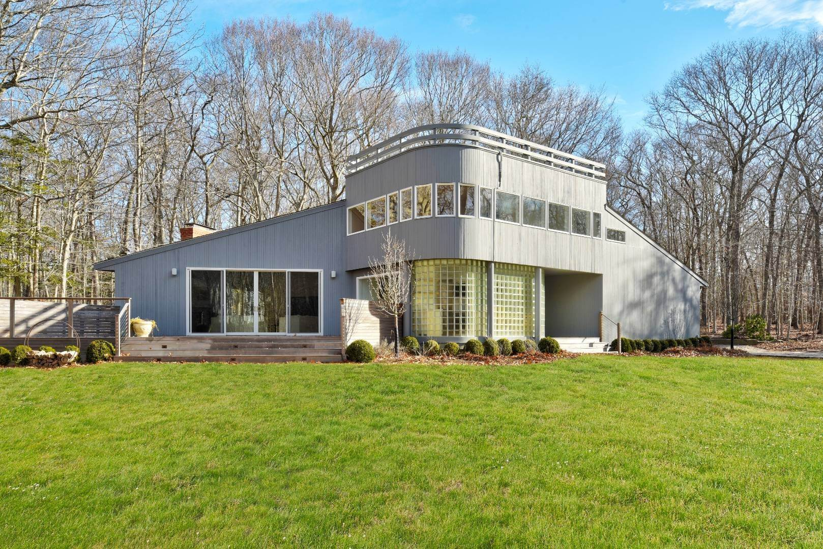 Single Family Home for Sale at Private Amagansett Modernist In Bell Estate 23 Woodedge Circle, Amagansett, NY 11930