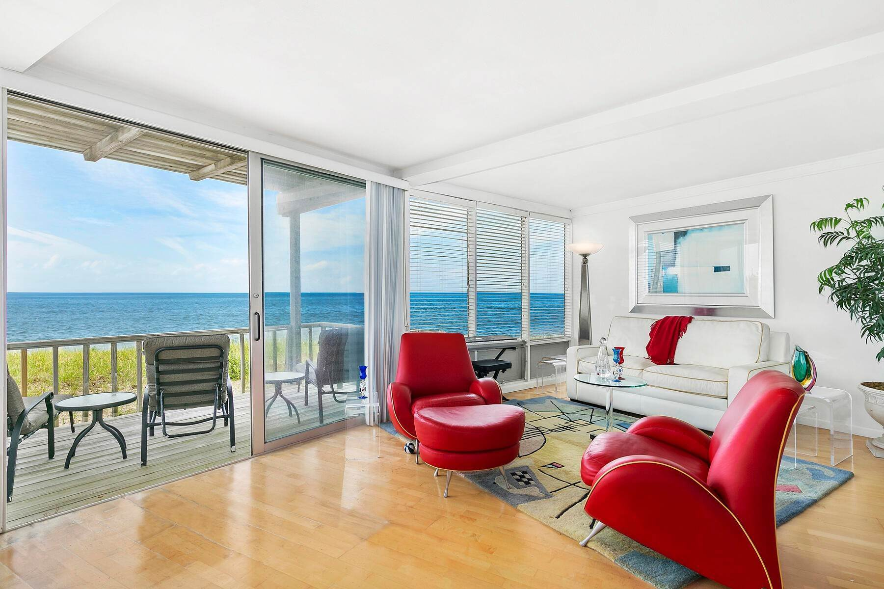 Multi-Family Homes for Sale at Rarely Available Oceanfront Double Unit 101 Dune Road, Unit 3 & 4, East Quogue, NY 11942