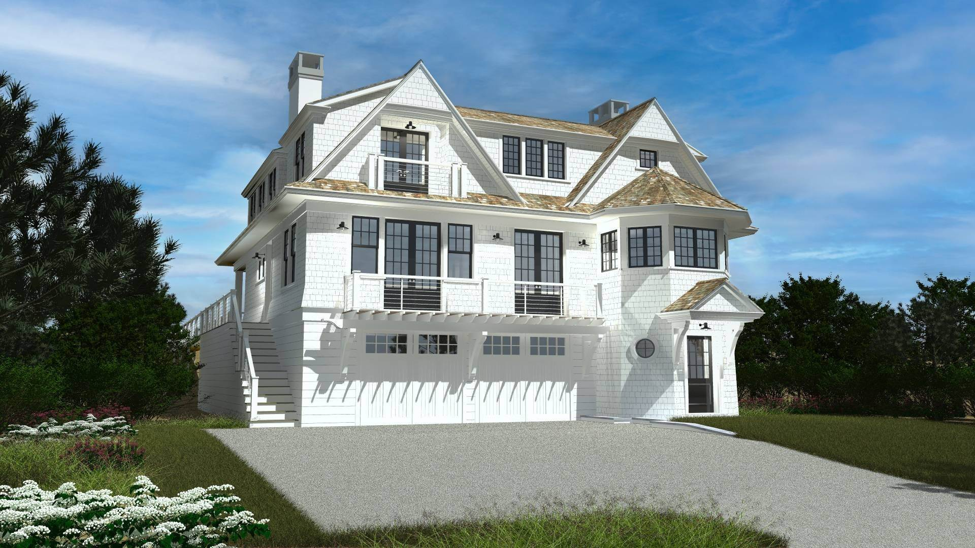 Single Family Home for Sale at New Oceanfront - Summer 2021 Occupancy 547 Dune Road, Westhampton, NY 11977