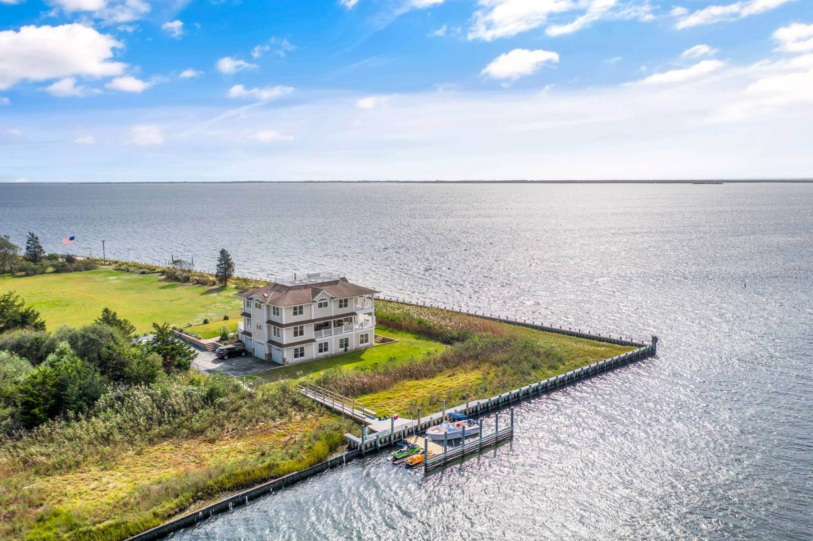 Single Family Home for Sale at Panoramic Waterfront Home 7 Convent Lane, Center Moriches, NY 11934