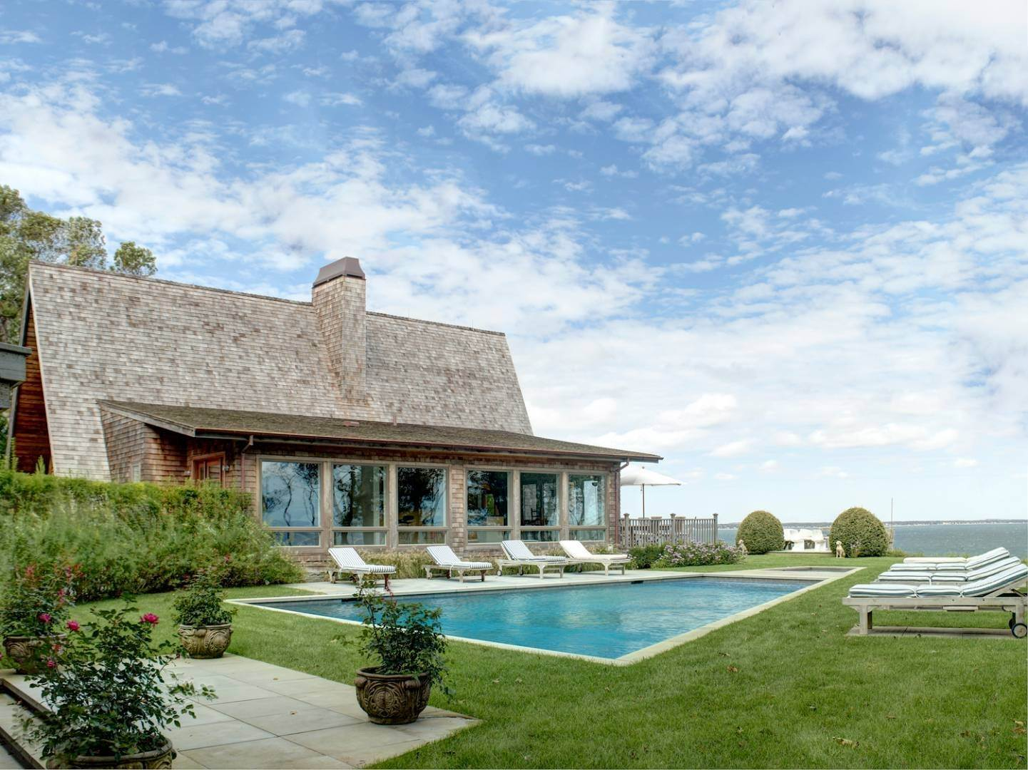 Single Family Home at Waterfront Home Overlooking Peconic Bay Hampton Bays, NY 11946