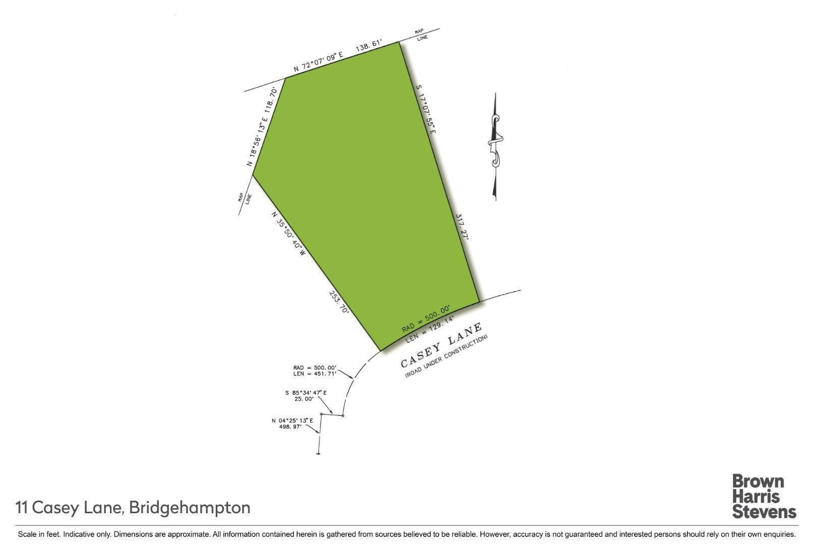 Land for Sale at Bridgehampton 1.25 Acre Building Lot 11 Casey Lane, Bridgehampton, NY 11932