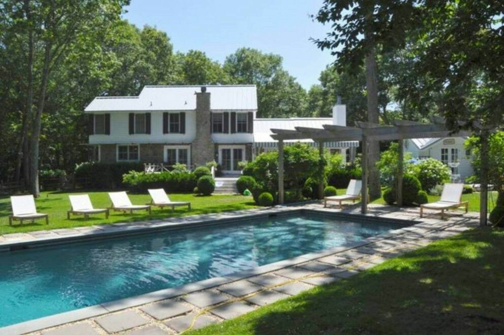 Single Family Home at Elegant Waterfront Home-Pond And Pool Southampton, NY 11968