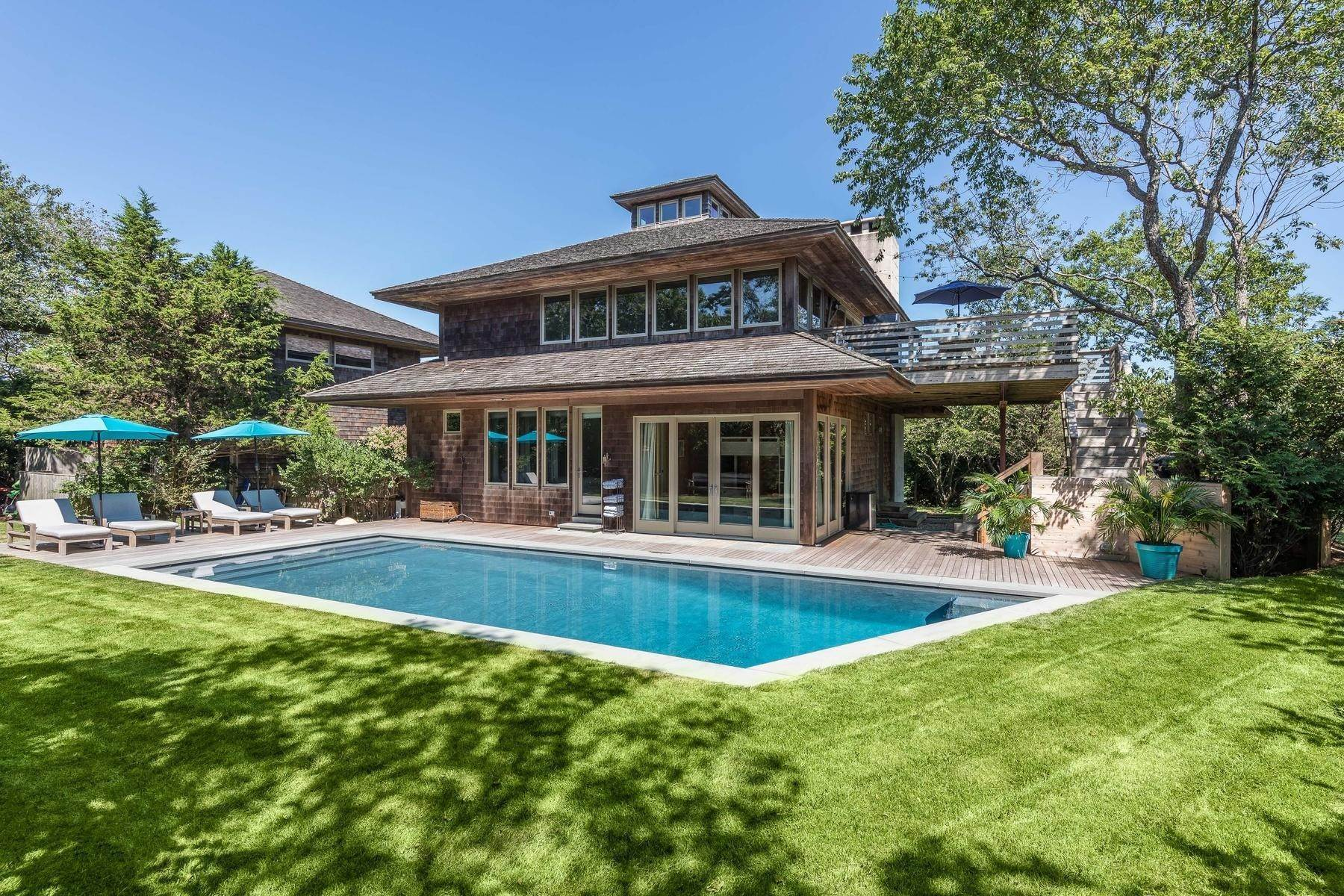 Single Family Home at Montauk's Surfside Area For The Summer With Pool Montauk, NY 11954