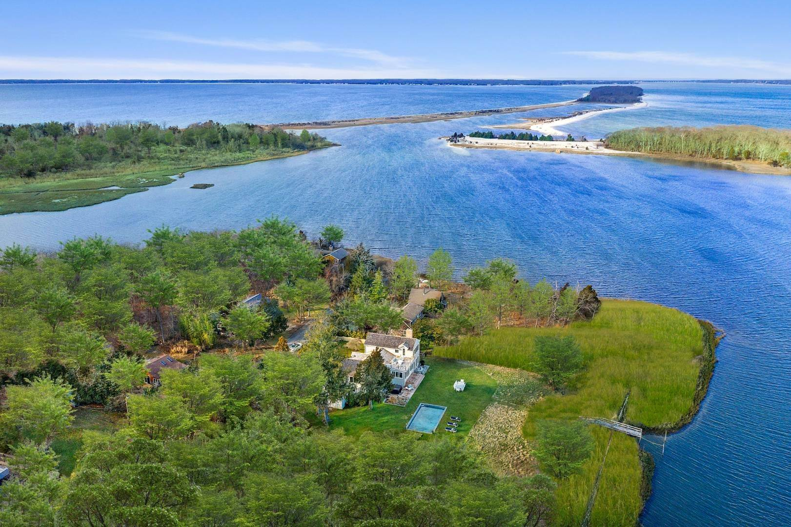 Single Family Home for Sale at Waterfront 2.4 Acres With Dock 22 Maple Ln, Sag Harbor, NY 11963