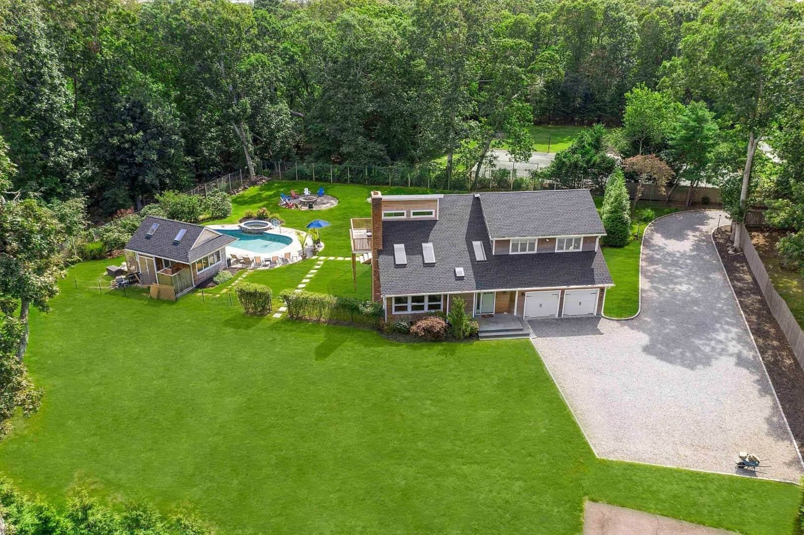Single Family Home for Sale at Private Westhampton Compound On One Acre 44 Jagger Ln, Westhampton, NY 11977