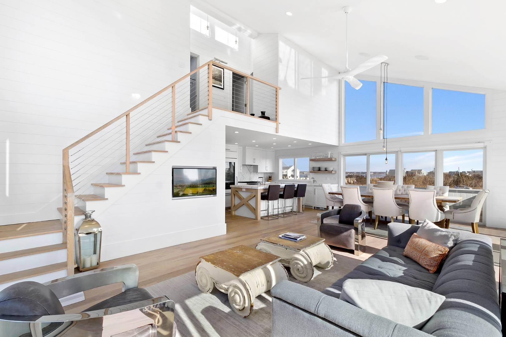 Single Family Home for Sale at Renovated Turn-Key Oceanfront 107 Dune Rd, Quogue Village, NY 11978