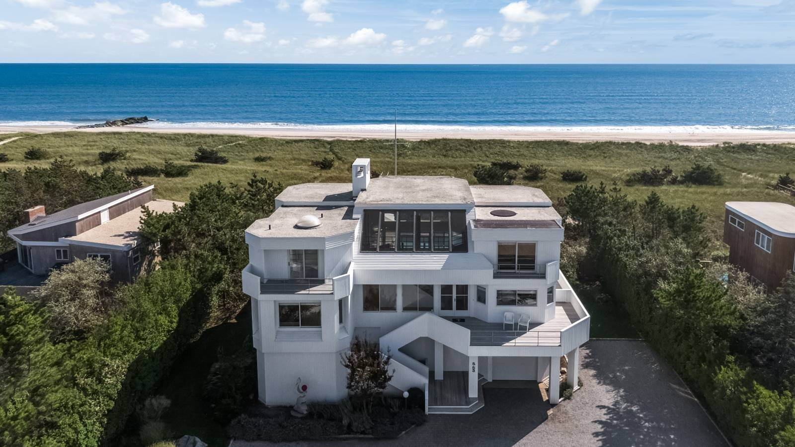 Single Family Home for Sale at Dune Road Oceanfront Contemporary 553 Dune Rd, Westhampton, NY 11978