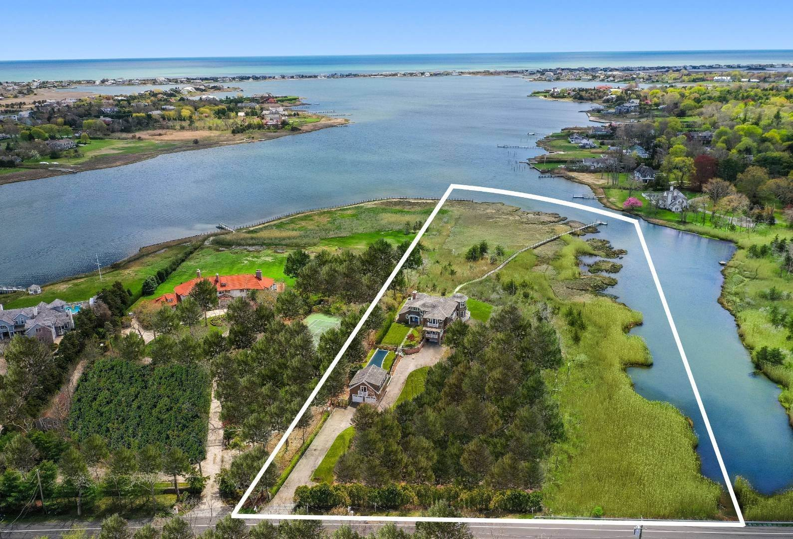 Single Family Home for Sale at One Of A Kind Spectacular And Fully Equipped Waterfront Estate 757 Montauk Highway, Quiogue, NY 11978