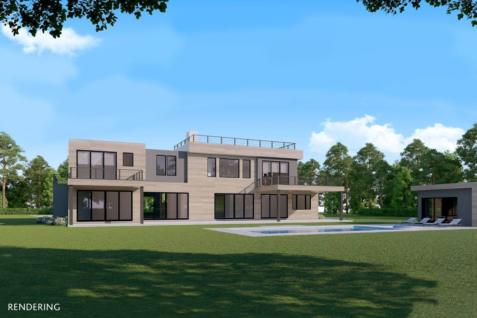 Single Family Home at Ocean Views From A Modern New Construction Close To The Beach Bridgehampton, NY 11932