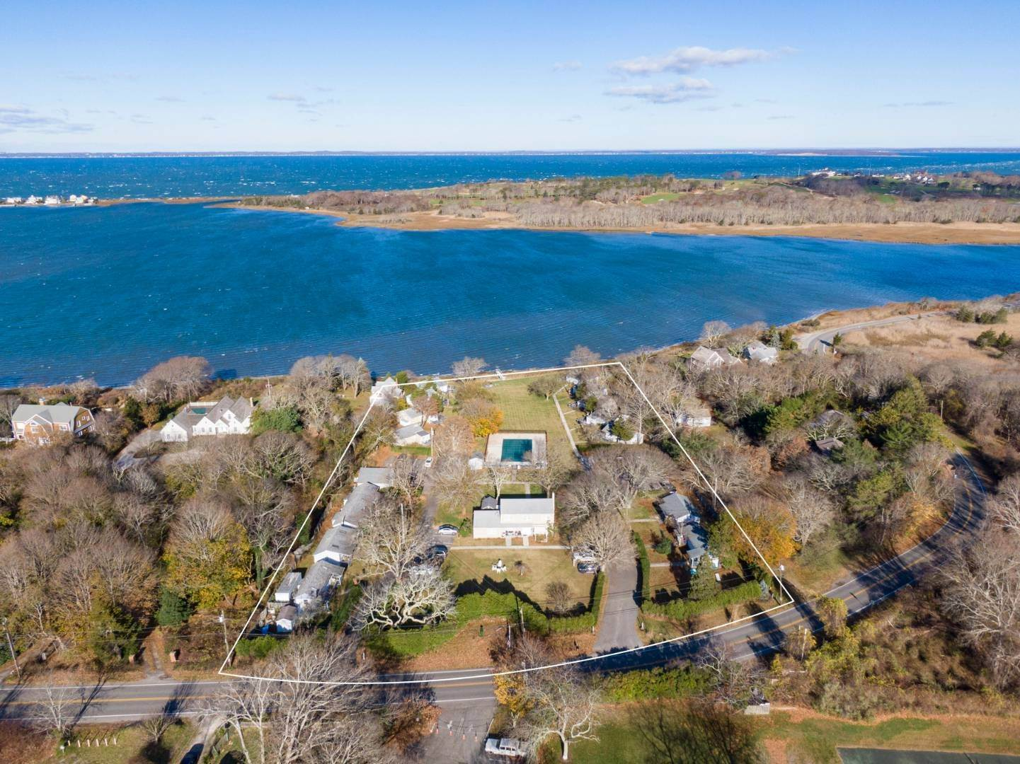 Commercial for Sale at Southampton's Only Waterfront Resort Property 35 Shrubland Rd, Southampton, NY 11968