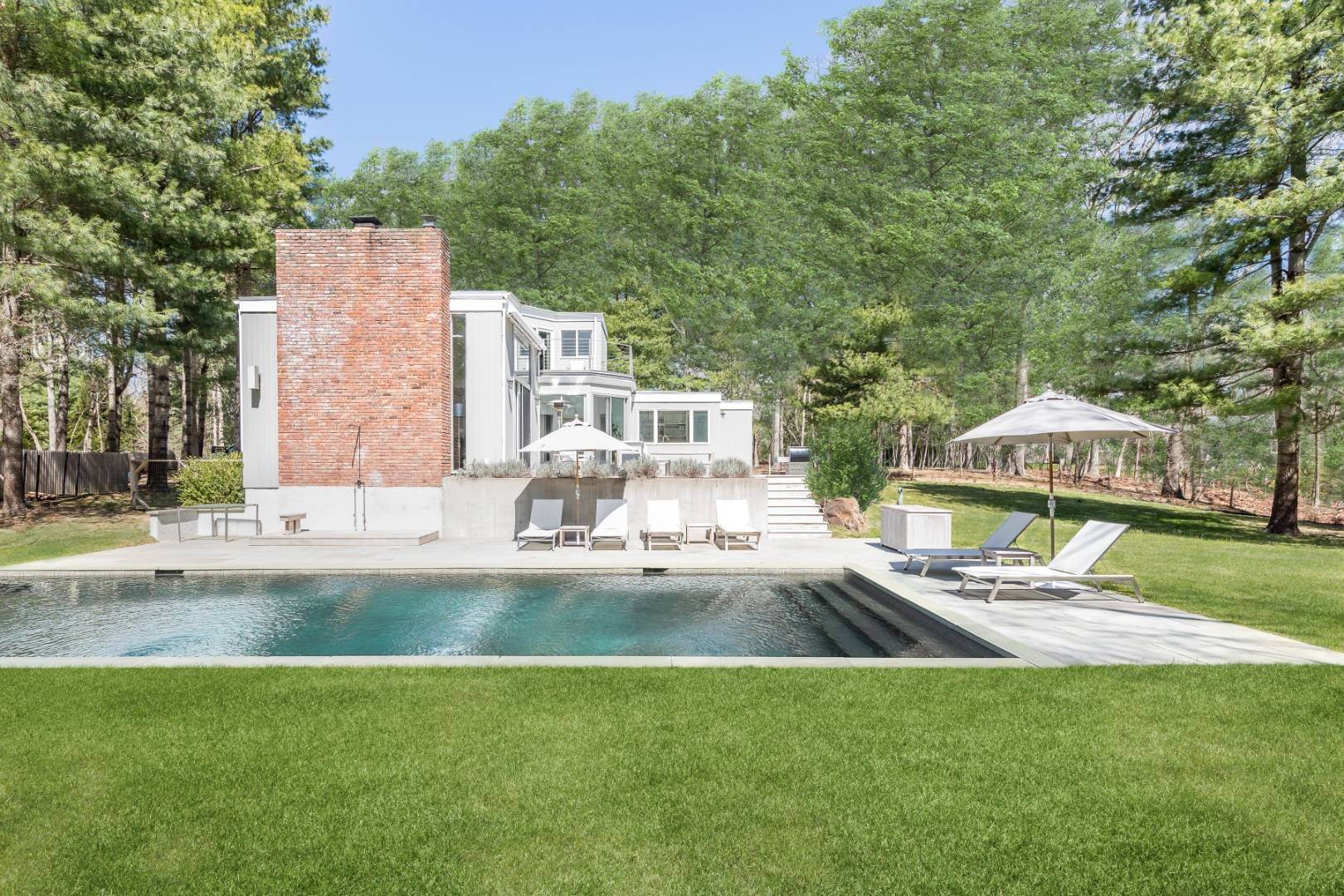 Single Family Home for Sale at Private & Renovated Contemporary 2 Miles From Eh Village 217 Bull Path, East Hampton, NY 11937