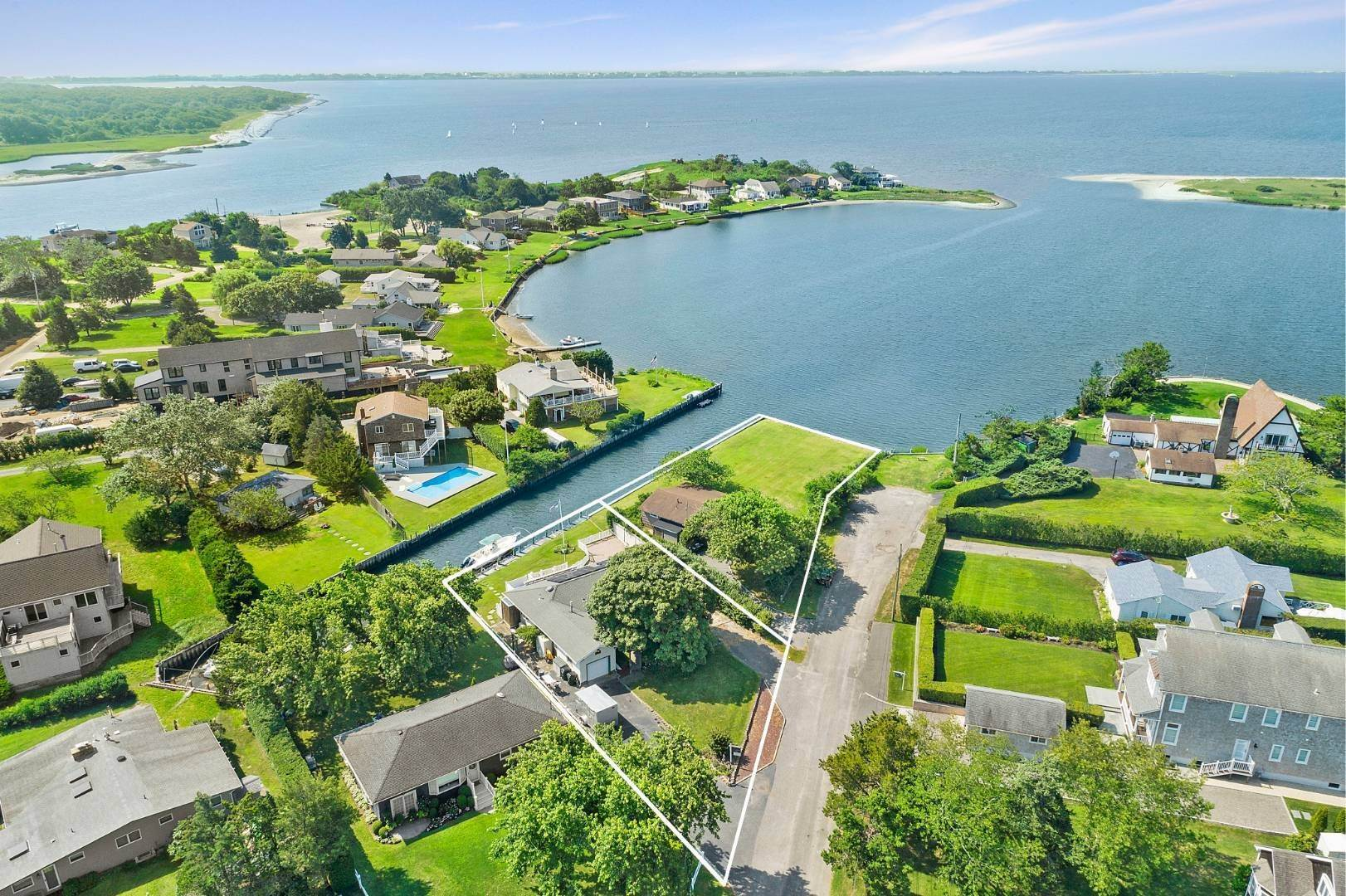 Land for Sale at Southampton Waterfront With Bulkhead And Dock 16 & 20 Middle Pond Lane, Southampton, NY 11968