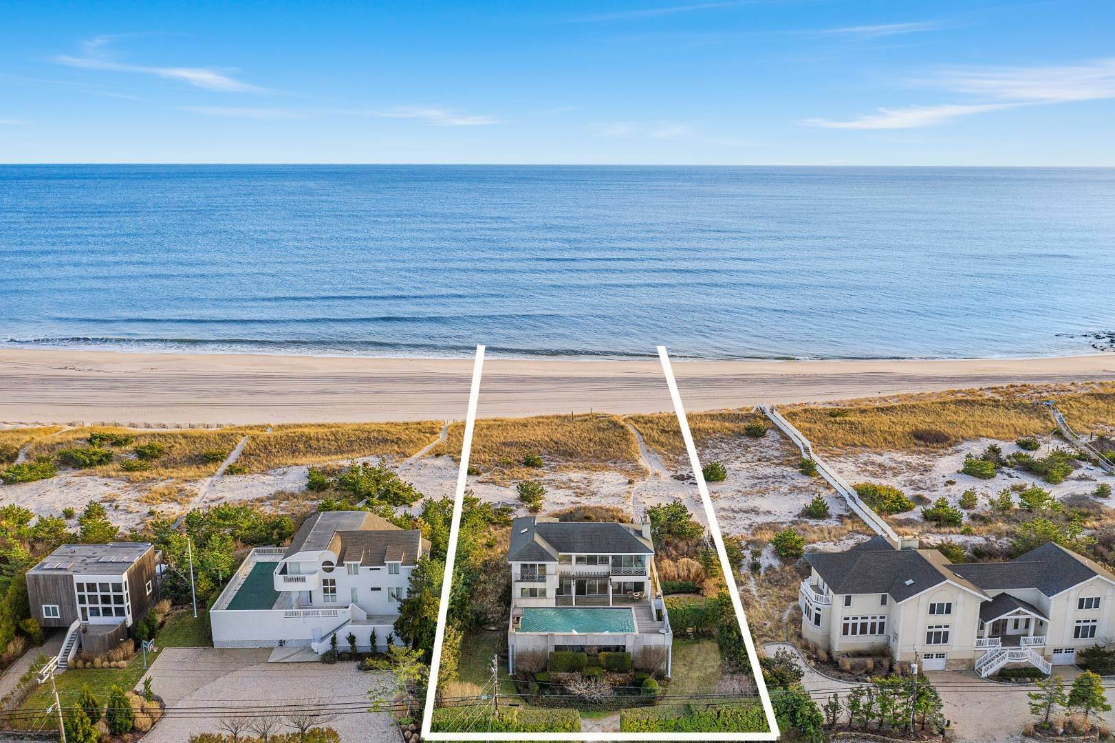 Single Family Home for Sale at Westhampton Oceanfront With Pool & Dock 599 Dune Rd, Westhampton, NY 11978