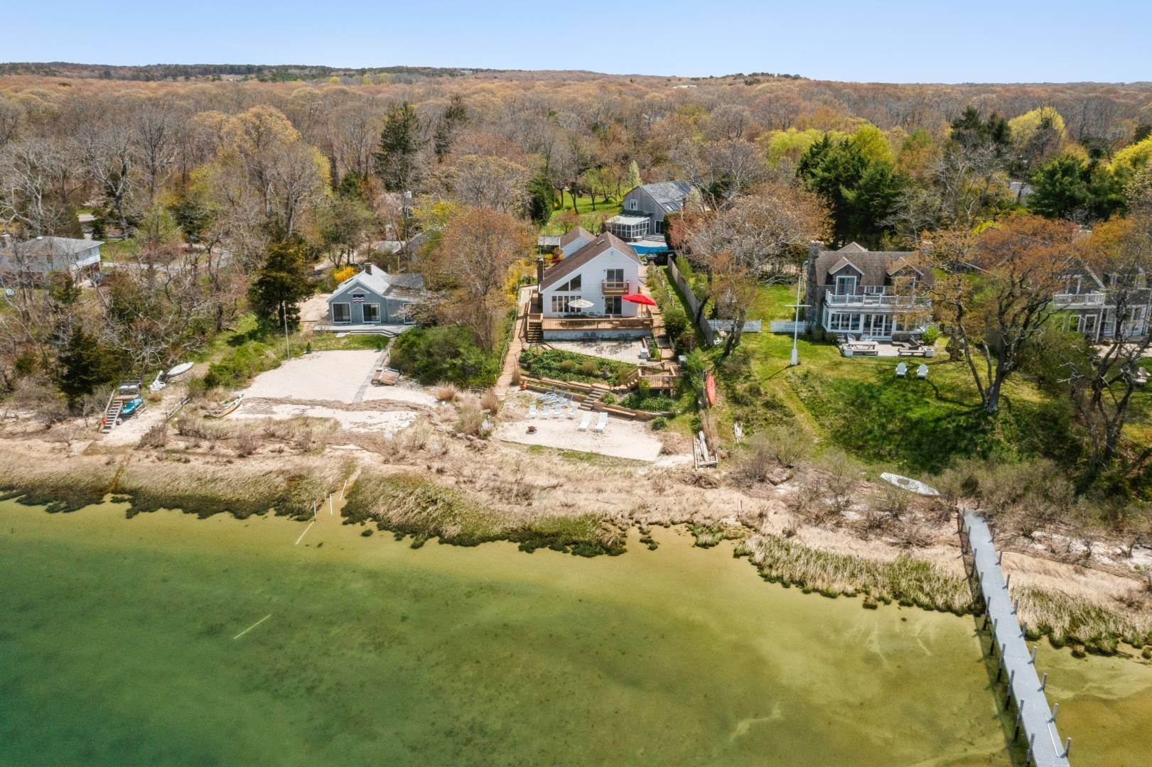 Single Family Home for Sale at Waterviews! 215 Noyack Rd, Southampton, NY 11968